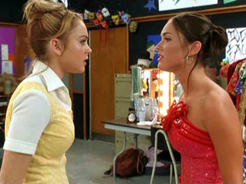 Description: Megan Fox and Lohan in the movie 'Confessions of a Teenage Drama Queen'