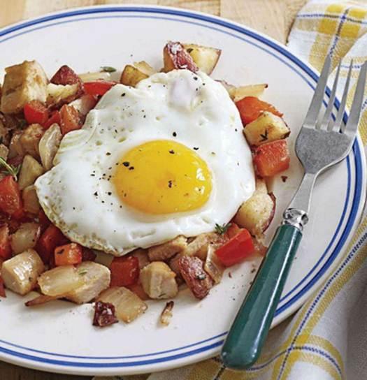 Description: Turkey Hash with Eggs