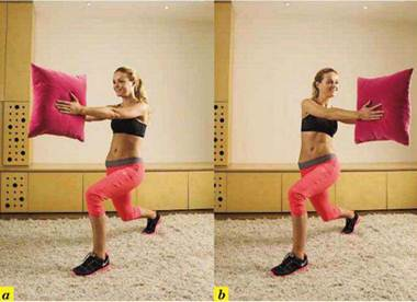 Description: Lunge twist with cushion
