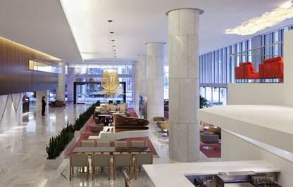 Description: Description: Lobby Lounge and Terrance at Fairmont Pacific Rim Hotel