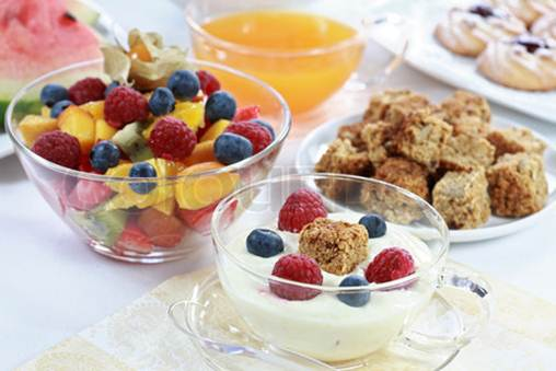 Description: Snack with fresh fruits