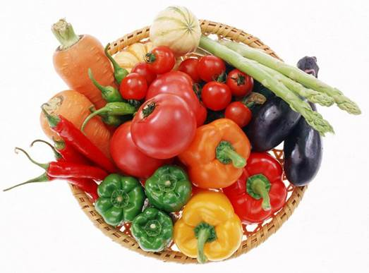 Vitamin C is abundant in fresh vegetables and fruits