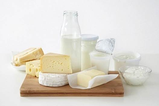 Milk and products from milk contain a lot of calcium and Fe.