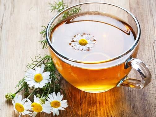 If you have drinking tea habit in the evening, choose chamomile tea instead of other strong tea.