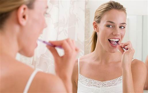 You should brush teeth twice a day, one in the morning and the other is in the evening.