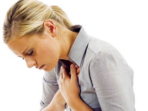 Pain in breast can be caused by lung inflammation or heart attack.