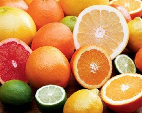Fruits that are rich in vitamin C can help you create environment to restrain bacteria's growing.
