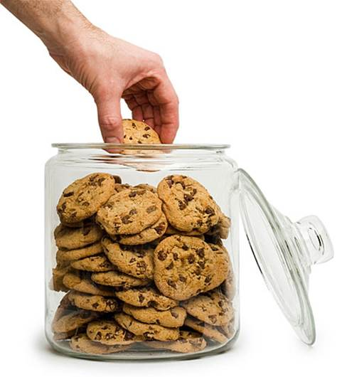 Eating cookies on an empty stomach is like throwing a tenner in the bin - it will disappear with nothing to show for it.
