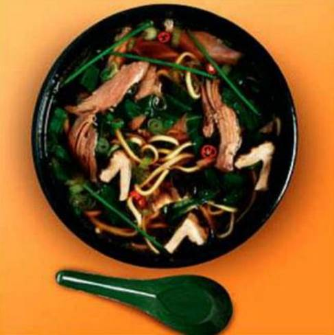 Flu-Fighting Roast Duck Noodle Soup