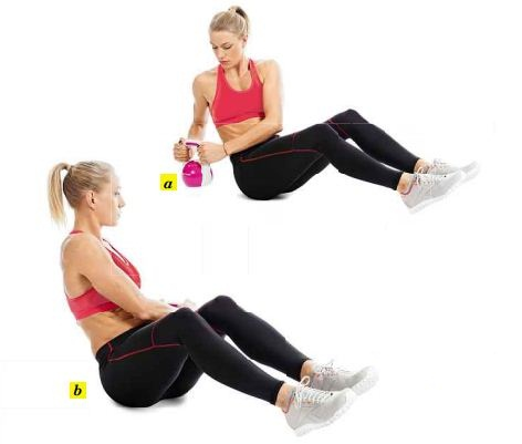 Rotate the kettle bell at a faster pace, or opt for a heavier weight.