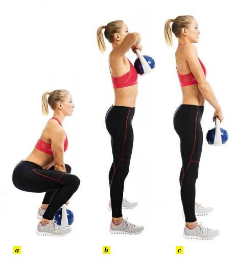 Keeping good form, lift the weight faster or pick a heavier kettle bell.