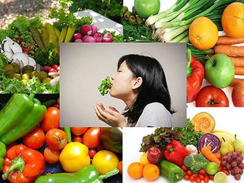 If you eat enough amount of vegetables and fruits, they can protect health for human body.