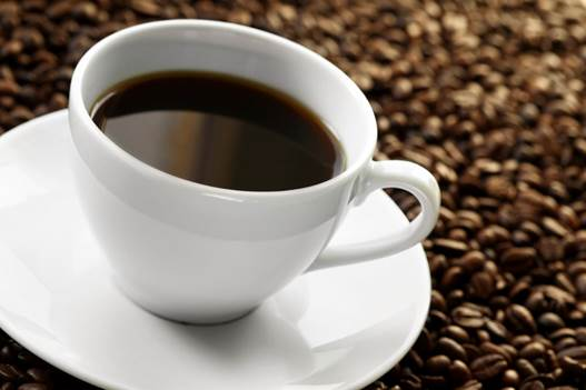 A cup of coffee contains 120-130 grams of caffeine.
