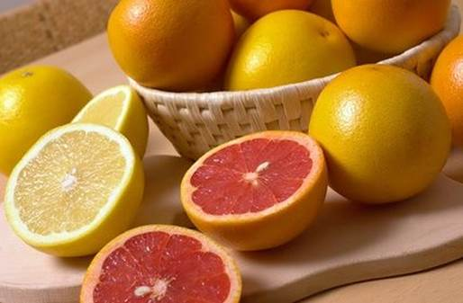 Folic acid is group of vitamin B; orange and lemon contain it a lot.