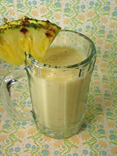 Pineapple and cabbage smoothie is very good for health.