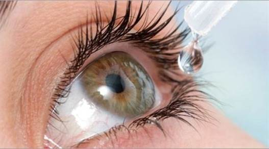 Every day you should have some 0.9% sodium chloride saline eye drops for several times.