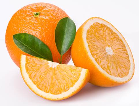 Orange is rich of vitamin A.