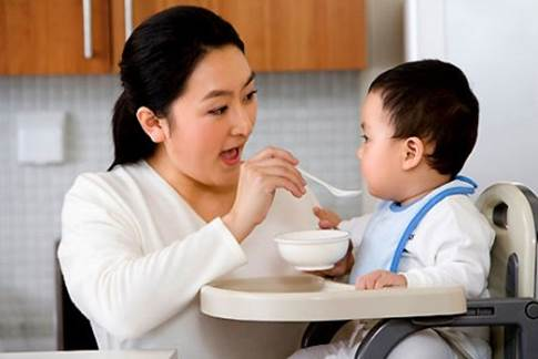 You should divide into many meals to make children feel more comfortable.