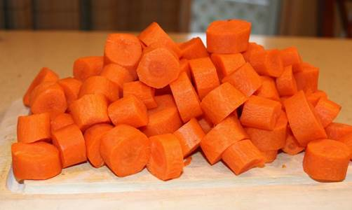 1 carrot, peeled and thinly sliced