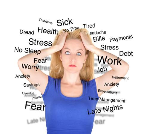 Stress can slow down or prevent ovulation.