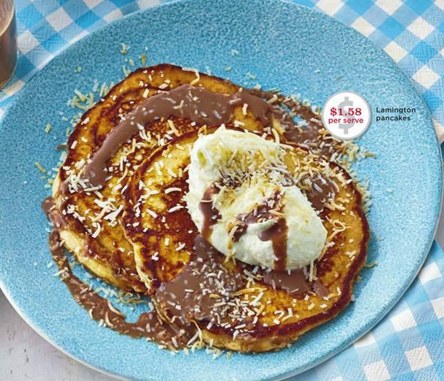 Description: Lamington pancakes