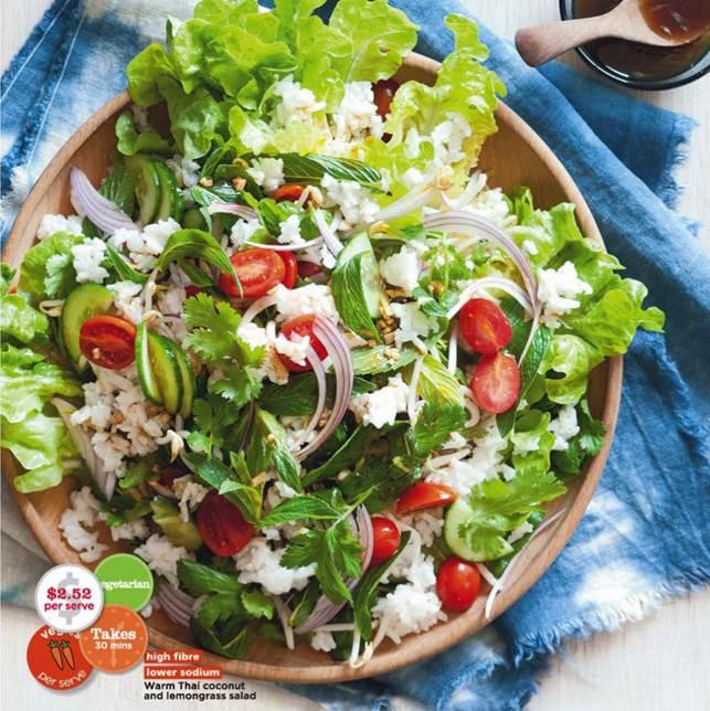 Description: Warm Thai coconut and lemongrass salad