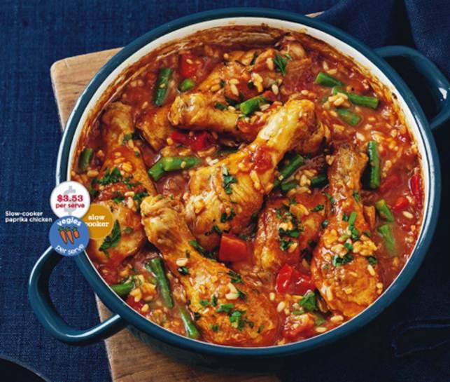 Description: Slow-cooker paprika chicken