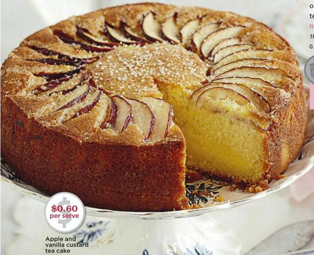 Description: Apple and vanilla custard tea cake