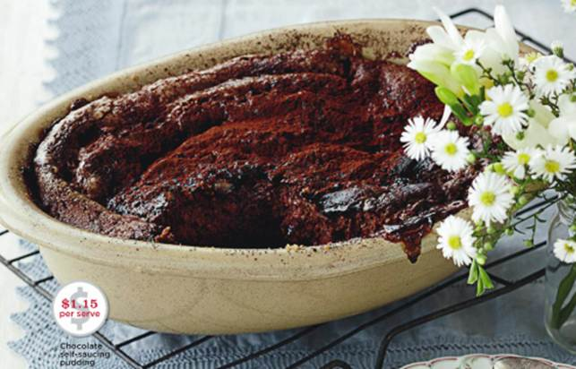 Description: Chocolate self-saucing pudding