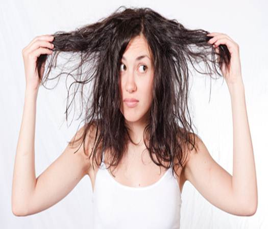 Description: Using more than two products can make your hair and scalp oily.