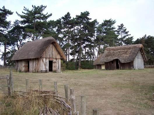 Description: The typical Saxon village