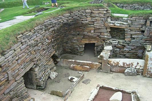 Description: the Neolithic village of Skara Brae on Orkney