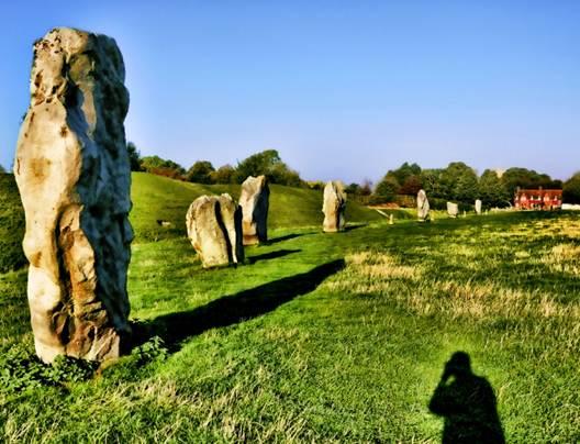 Description: Standing stones of the henge at Avebury, Wiltshire, England