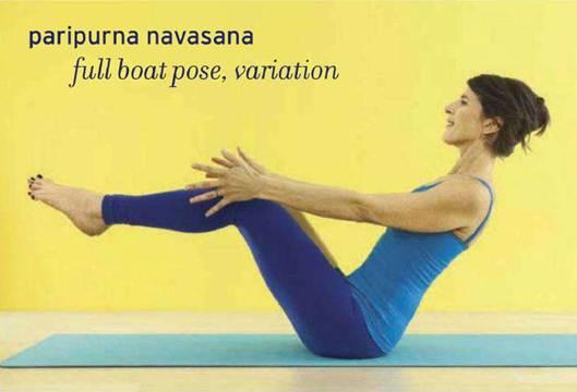 Description: Paripurna navasana – full boat pose, variation