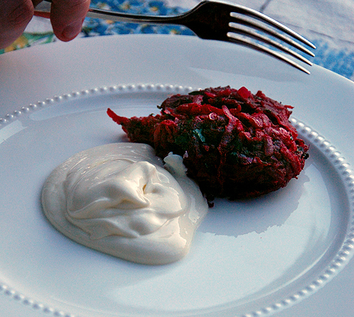Description: Beetroot fritters