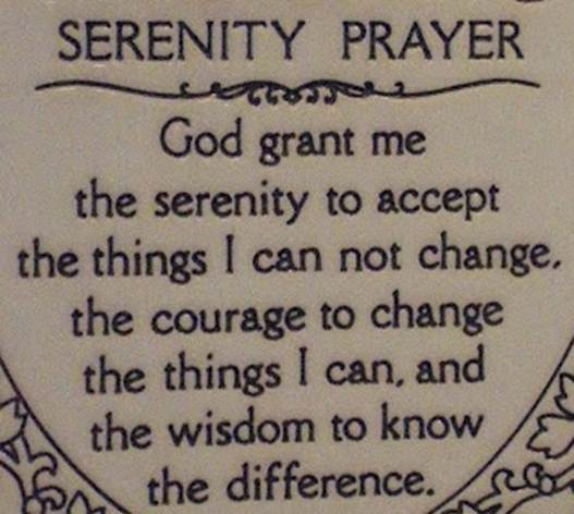 Description: the Serenity Prayer is routinely used by AA