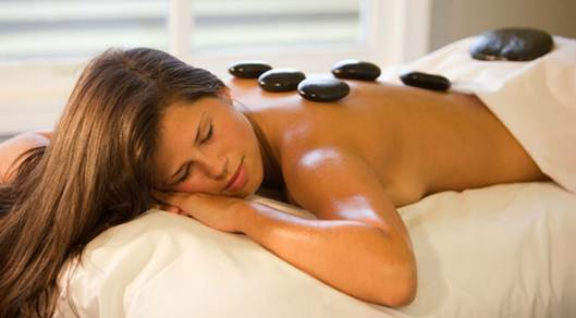 Description: The spa menu is extensive and includes meditation.