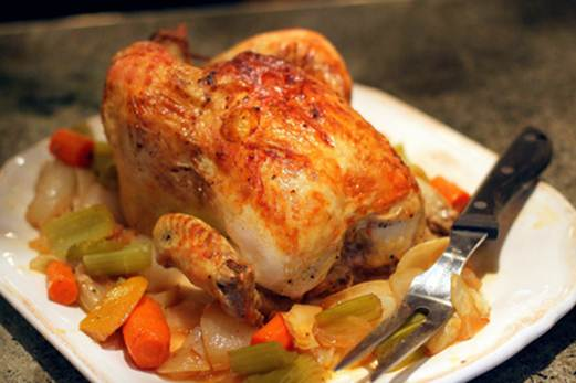Description: Can you mange a whole roast chicken in one meal?
