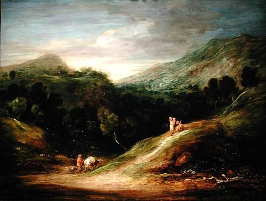 Description: Gainsborough's landscapes show influences from both Dutch naturalism and Italian classicism