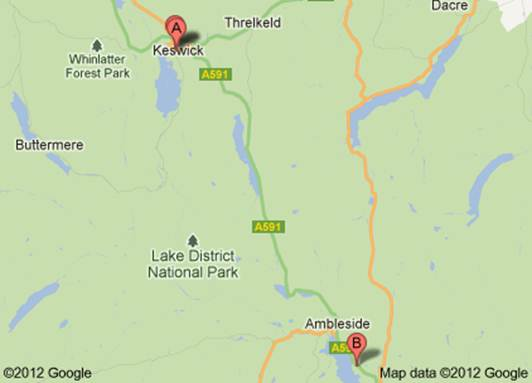 Description: Lake District map