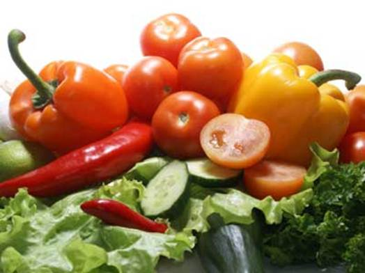 Description: Red fruits and vegetables
