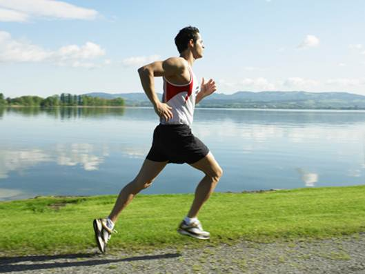 """Description: """"Run with an upright posture and a slight forward lean,"""""""