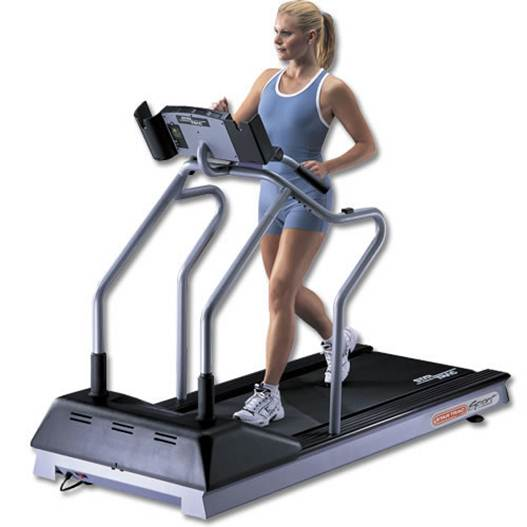Description: Description: Tearing it up on the treadmill