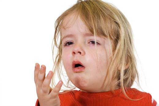 Children can cough a lot; the sound of the cough is similar to the bark.