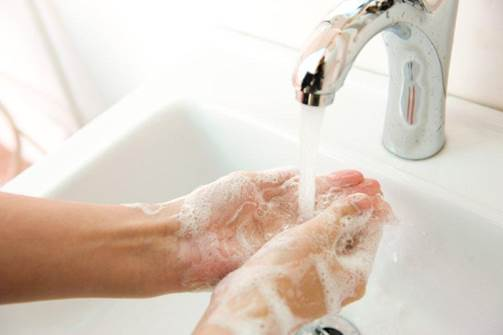 You need to wash your hands after having lunch, meeting, using general tools in office, shaking hands with everyone.