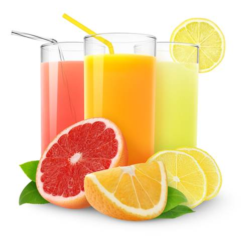 Kinds of fresh fruit juice can provide babies with water, vitamins and minerals.