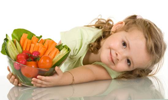 Eating vegetables too much will obstruct absorption of calcium and zinc in children's body.