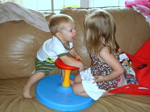 Children can play peacefully with friend at the present and fight over toys or crayons with their friends in the next minutes.