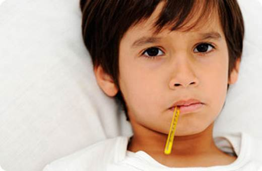 When children have snivel, there're many chances that they have had flus.