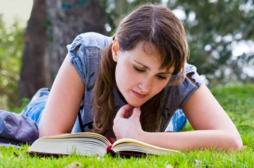Reading books outside can create good conditions for ultraviolet and infrared get into the eye.